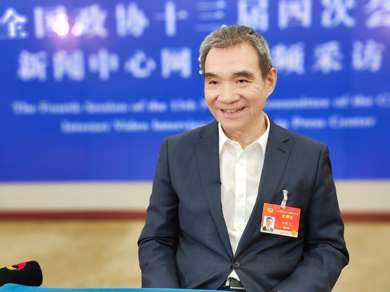 全国政协常委、经济委员会副主任林毅夫。受访者供图