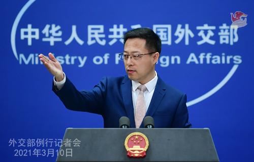 """美海军上将声称大陆可能在未来6年内""""入侵""""台湾,赵立坚回应"""