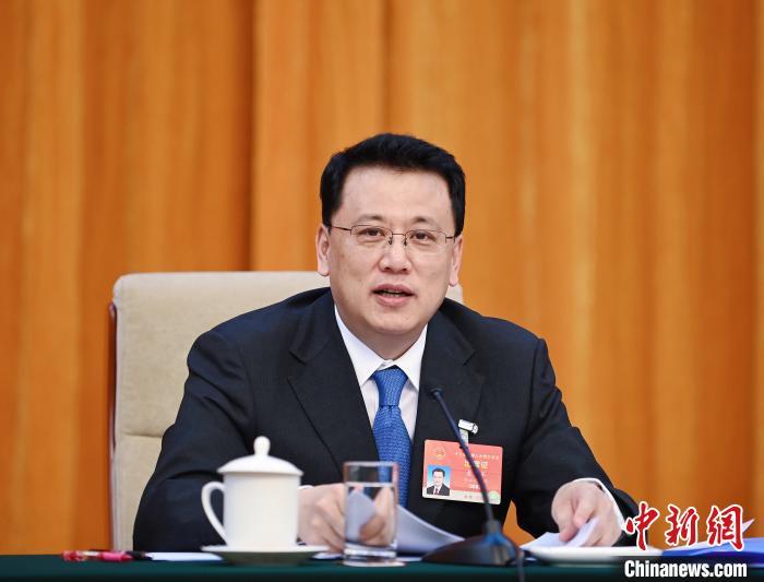 全国人大代表、浙江省委书记袁家军。 胡元勇 摄