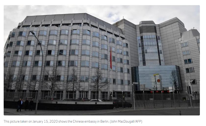 駐德國使館發言人應詢回復使館遭襲事