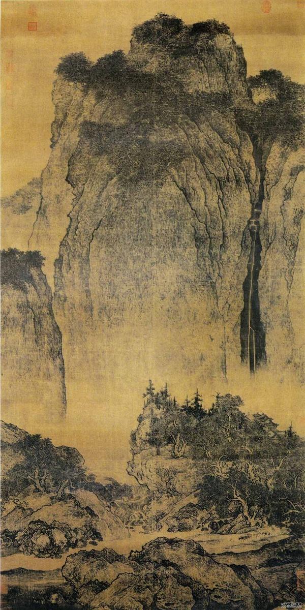 图11,山水画 《溪山行旅图》 北宋 范宽