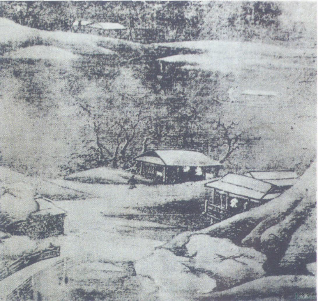 《雪溪图》 局部