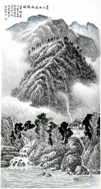 夏山雨霁 陈承豹 2010年作