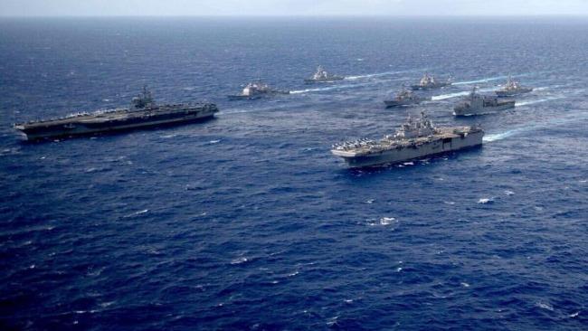 """美军评估重建第一舰队""""对抗中国"""",基地可能设在新加坡或澳大利亚?"""