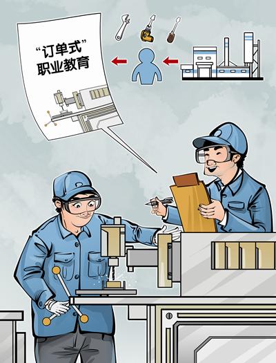 """""""订单式""""职业教育实现""""优质就业""""视觉中国供图"""