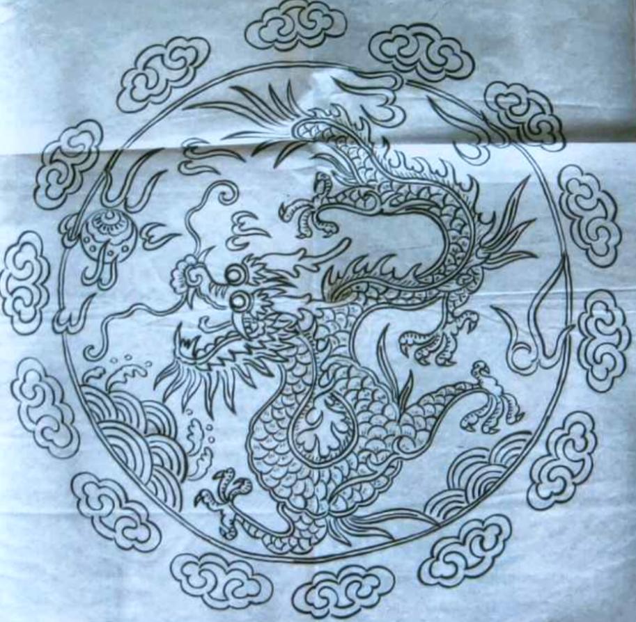 附图6《神龙图腾》,高龙涛作