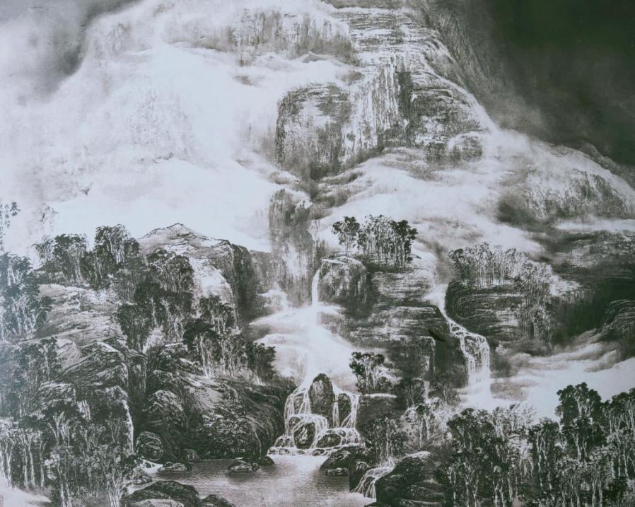 图2,《晨曲》140厘米×186厘米2008年