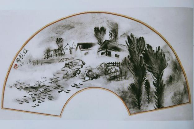 图4,《牧歌》30厘米×56厘米1993年