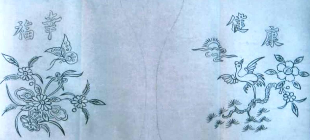 附图5《剪纸花图样》,高龙涛作