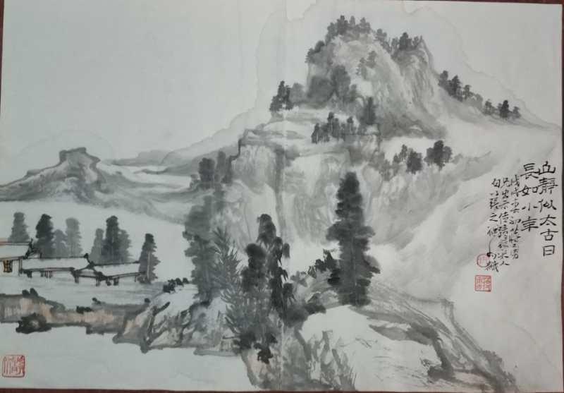 图2,临古山水画