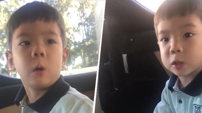 杜江晒儿子四年前视频,嗯哼嘟囔着不要玩具,一本正经说我长大了