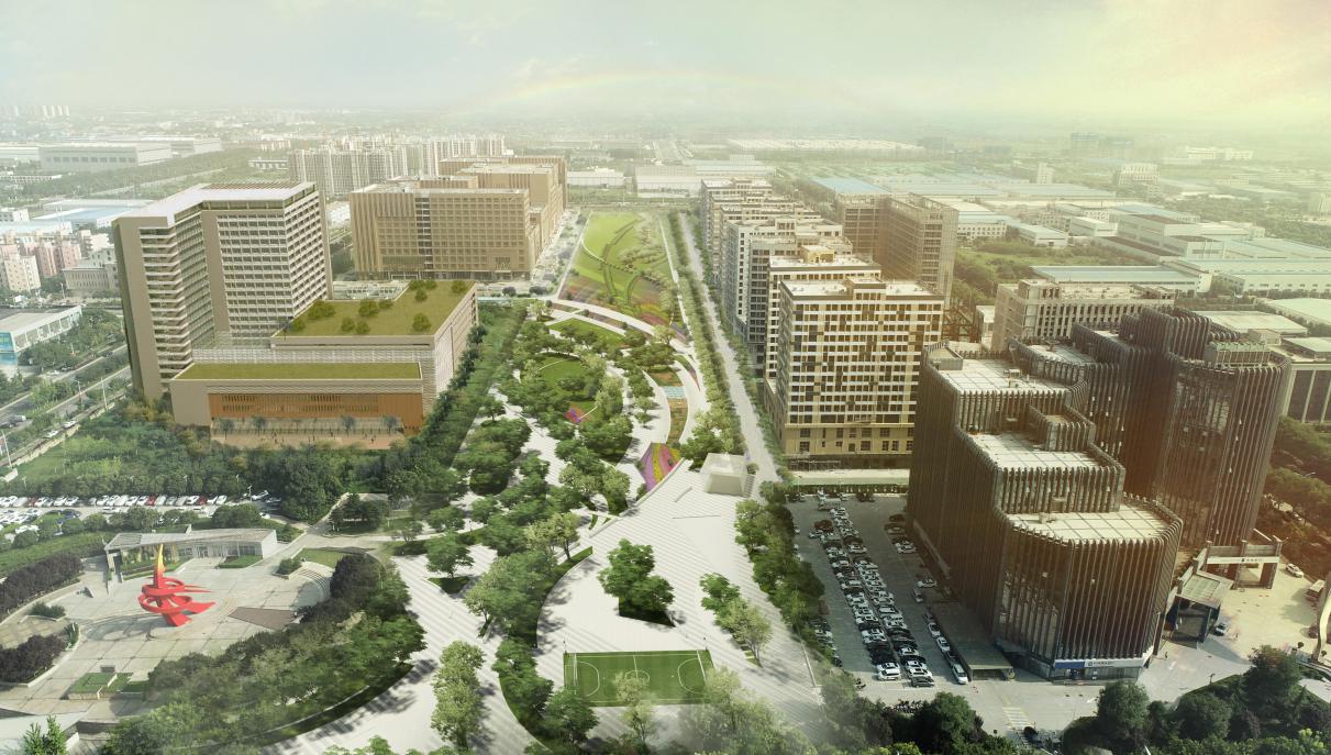 航空科技走廊绿廊项目概念设计图