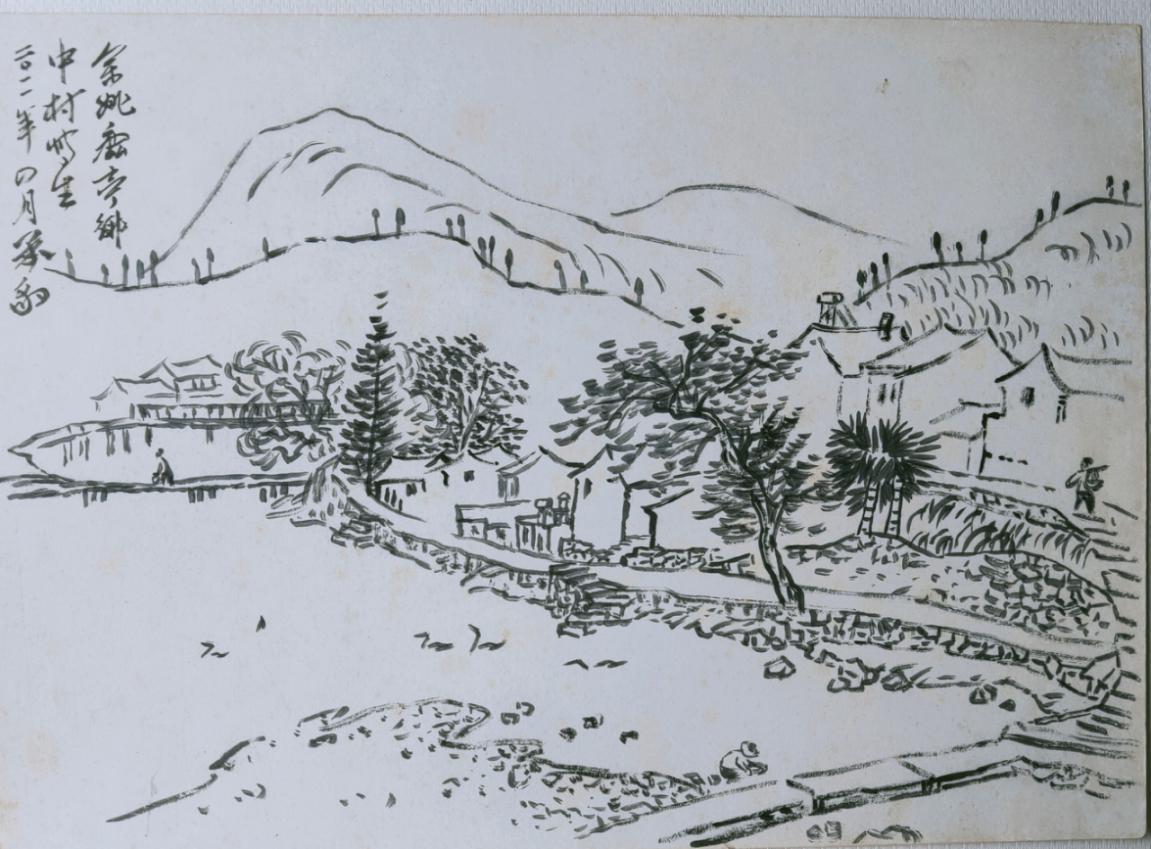 图3,《山乡春霭》