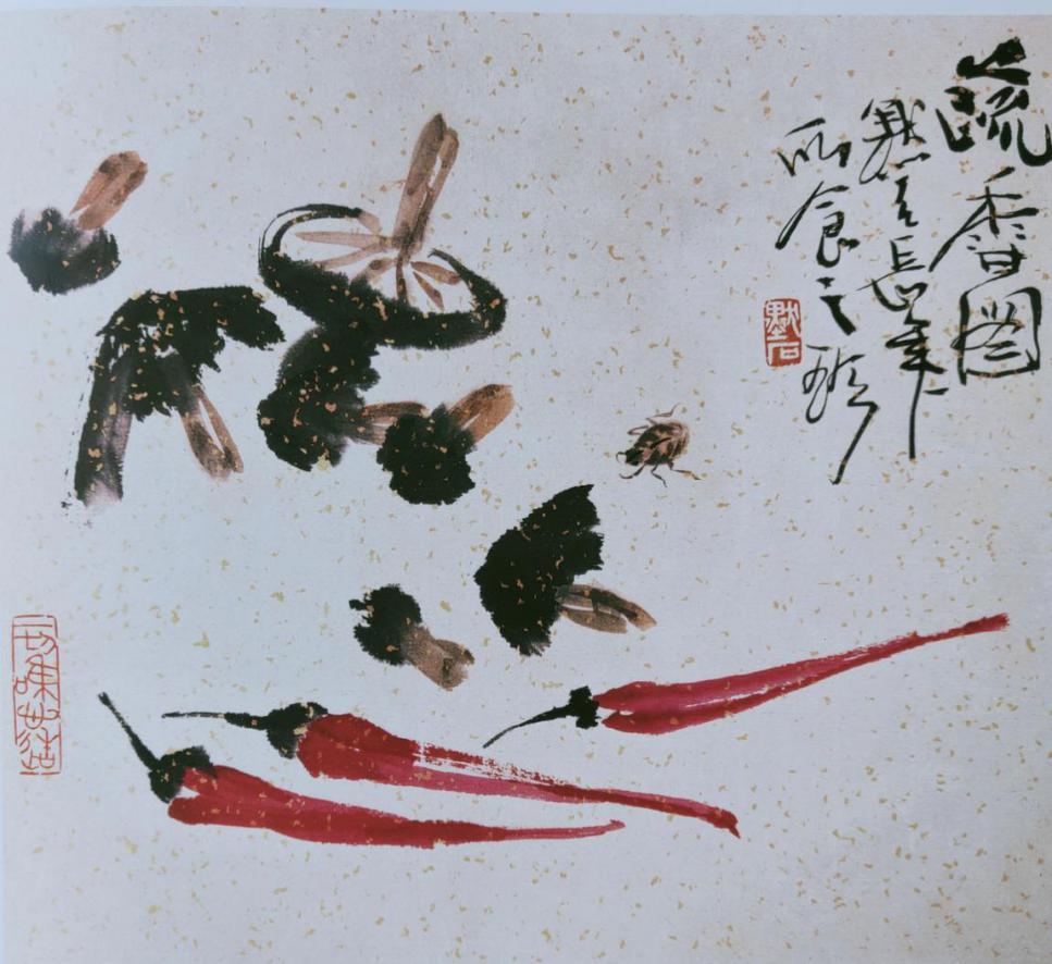 图3,《疏香图》 26.5厘米×29.5厘 2008年