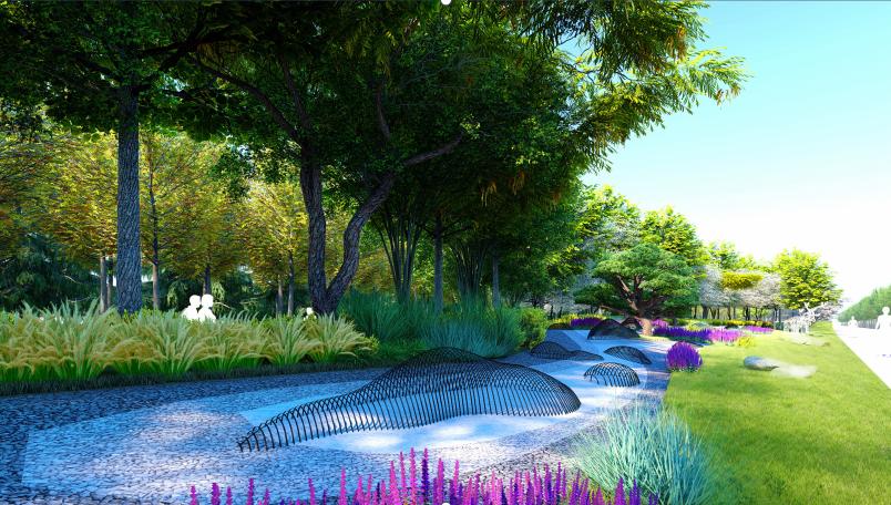 蓝天三路林带公园概念设计图