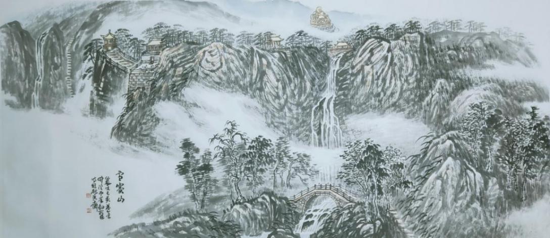 图5,《雪窦山》当代 陈承豹