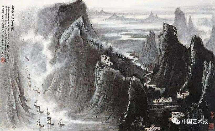 图4,《无尽江山入画图》现代李可染
