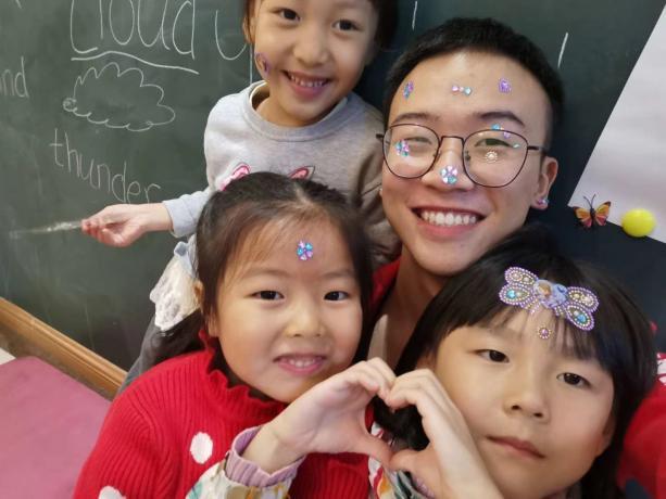 安徽新华学院外国语学院学生寒假辅导照片