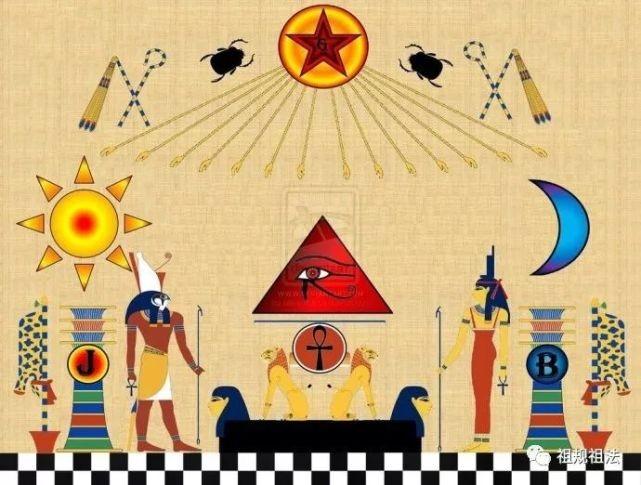 古埃及壁画中的太阳标志