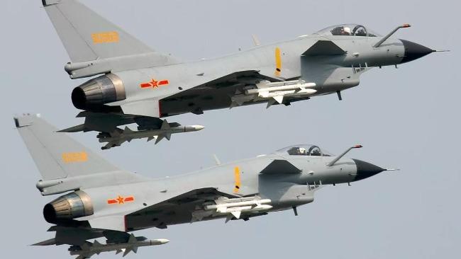 台军称2架解放军歼-10进入台空域。