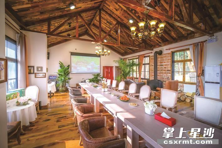 """在长沙县长龙街道湘峰村,一个以""""企业民宿""""为主的慧润·杨祠""""盈商小镇"""",正在给村落换一种方式生长。 图为民宿内景。 章帝 摄"""