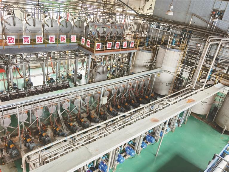 现代化淀粉加工生产线。