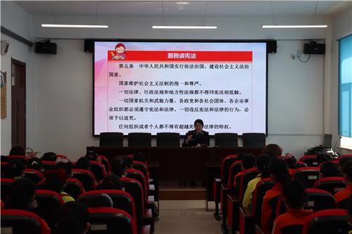 汤原县司法局、县教育局、县卫健局联合开展普法进校园活动