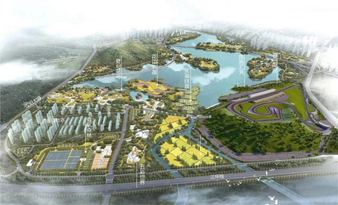 小镇总体效果图。武汉中沁景阳产业发展有限公司供图