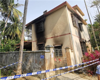 万宁兴隆一居民楼发生火灾 2人遇难