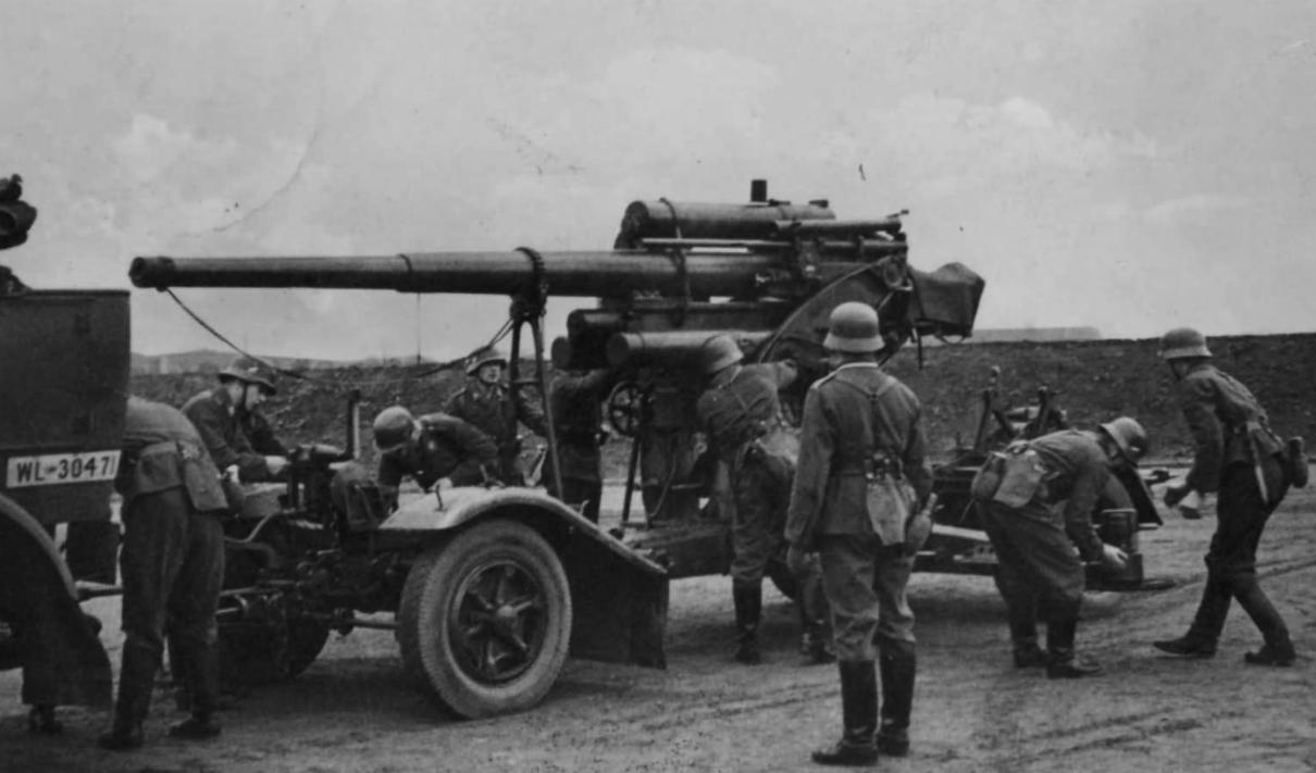 Flak18型88毫米高炮。