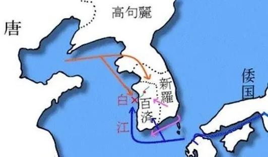 图为白江口海战示意图