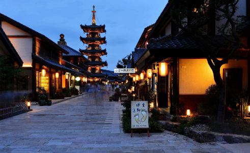 图为日本京都
