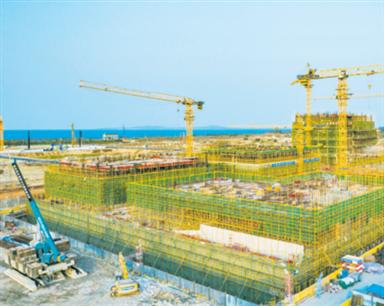 """海口江东新区重点项目建设提速""""犇""""跑"""