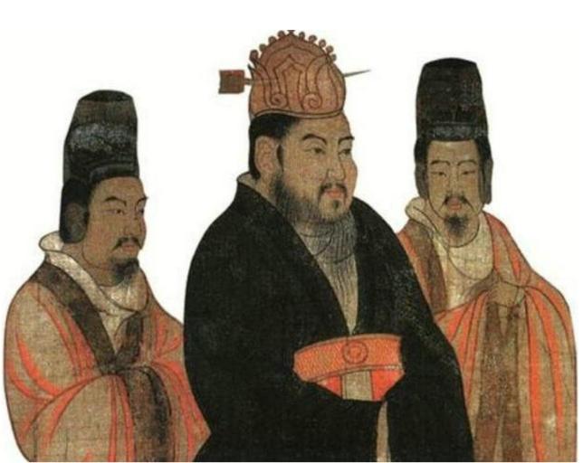 图为隋炀帝杨广古画像