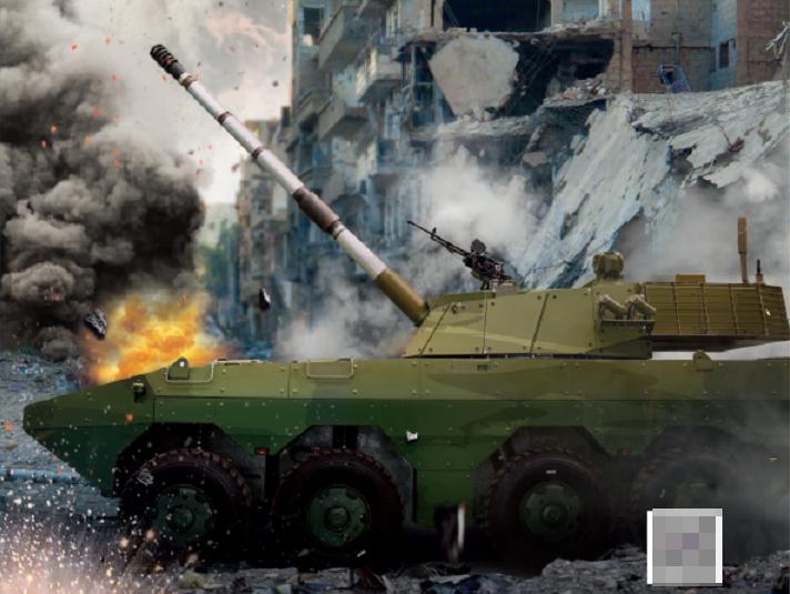 ST3外贸105毫米多功能自行火炮。