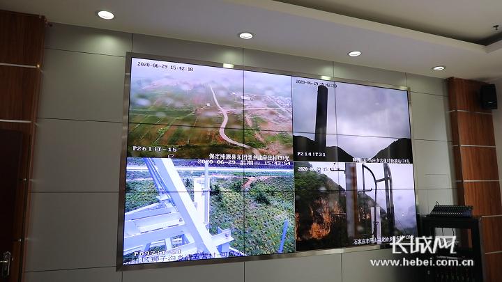 森林草原防火监测系统显示大屏。长城新媒体记者 闫思宇 摄
