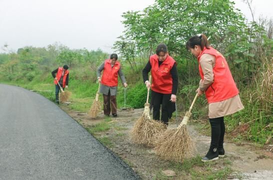 党员群众志愿者们参与志愿清扫