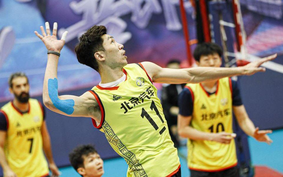 江川刚刚率北汽男排获全国排超冠军。资料图片/社交媒体