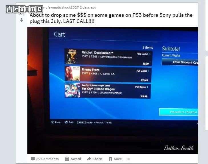 赶在七月前再买一波 PS3 游戏,最后的机会了!
