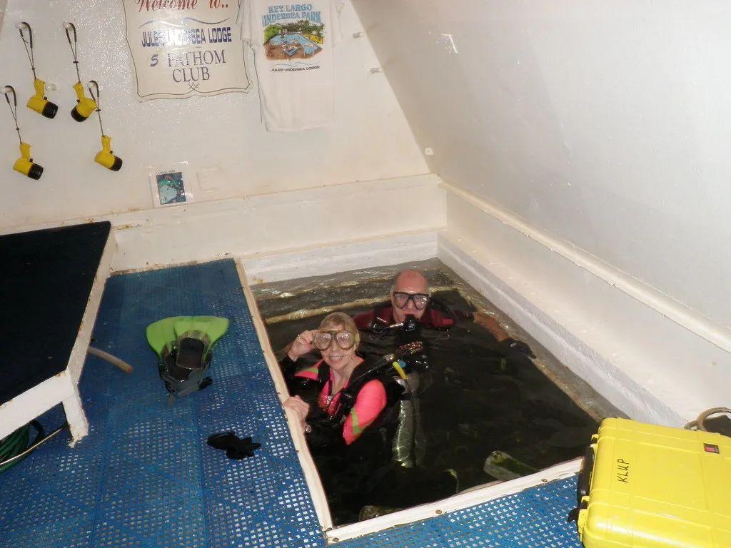 △位于美国佛罗里达州的 朱尔斯水下旅馆。 /flickr