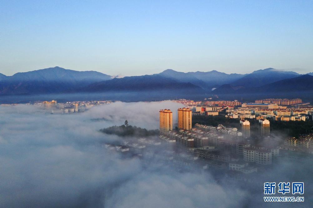 这是井冈山红星城区(无人机照片,1月25日摄)。新华社发(宁红兵 摄)