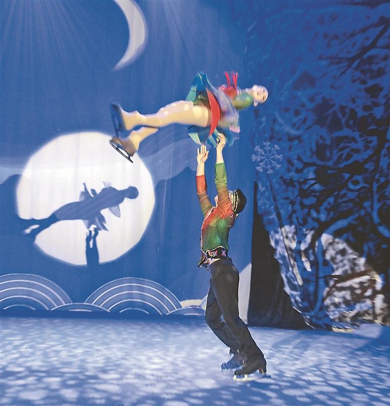 演出现场冰舞炫技。