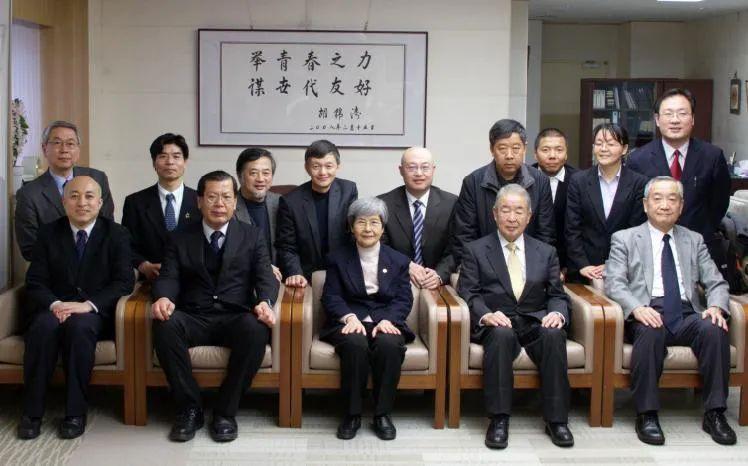 2013年樊锦诗院长、王旭东常务副院长五人访问日本东京艺术大学