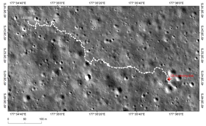 """图1:""""玉兔二号""""月球车巡视路径图"""