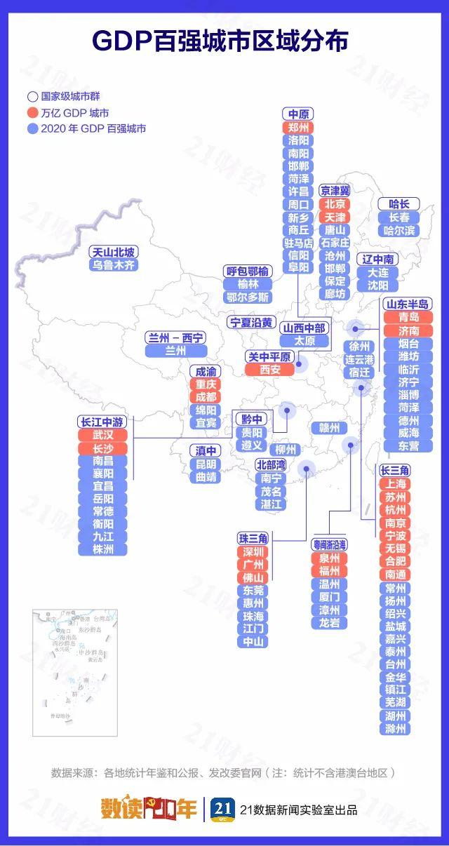 """最新中国城市GDP百强榜:""""万亿级""""猛增至23个!"""