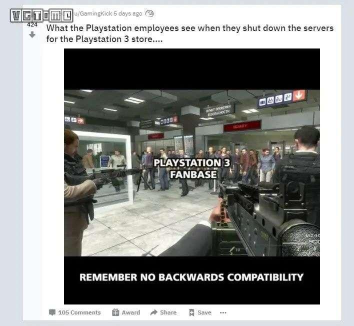 当索尼员工关闭 PS3 商店的时候,他们看到了什么?
