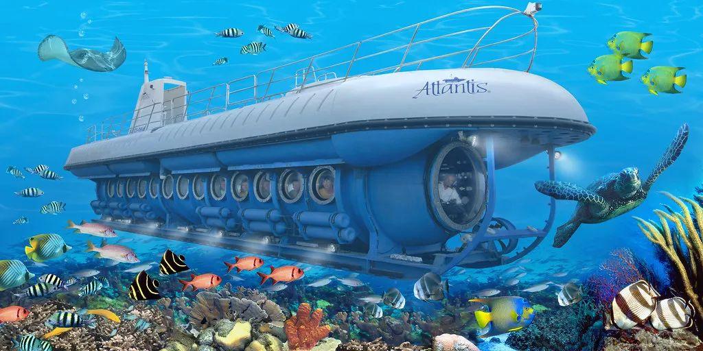 △亚特兰蒂斯潜水艇整体示意图 。/flickr