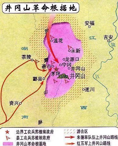 井冈山革命根据地。来源/网络