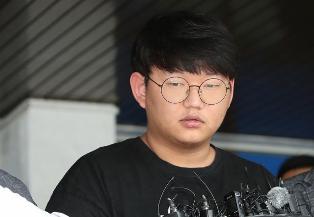 안동경찰서 나서는 n번방 '갓갓' 문형욱. 연합뉴스 자료사진