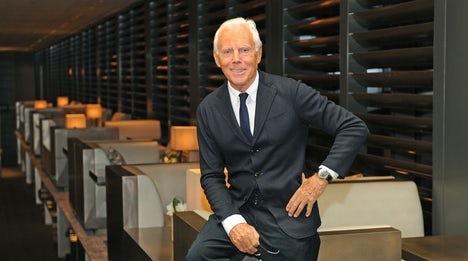 乔治•阿玛尼暗示将会考虑与另一家意大利公司合资